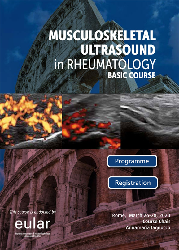 Musculoskeletal ultrasound in rheumatology (Rome, 26-28 March, 2020)