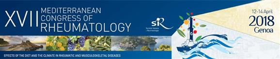 XVII. Mediterranean Congress of Rheumatology (Genoa, 2018.04.12-14.)